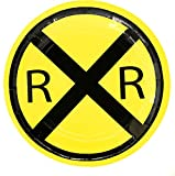 "RailRoad Train Party 7"" Dessert Plate - 8 Pack"