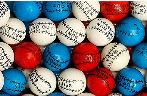 (Baseball Bubble Gum Gumballs, 10.2oz - Approx 47 Pcs Bag)