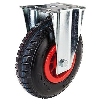 225 mm rueda neum/ática con llanta de pl/ástico Rueda giratoria con tope