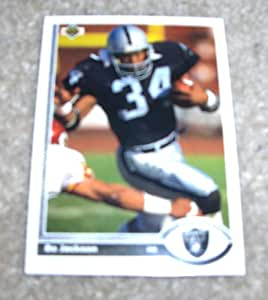 Amazon Com 1991 Upper Deck Bo Jackson 155 Nfl Football