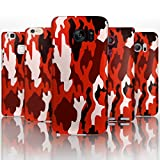 Hairyworm - (BG0059) Red Camouflage Sony Xperia Z2 semi flex plastic cell phone case, cover, hard plastic cell phone case, cell phone cover, cell phone back cover, cell phone protector