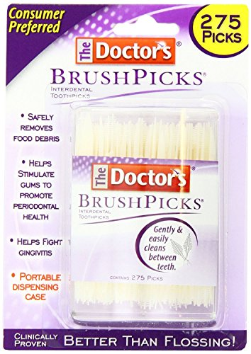(The Doctor's BrushPicks Interdental Toothpicks | 275-Picks per pack |)