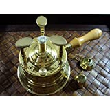 Brass Turkish Coffee Maker Table Top Alcohol Burner Lrg