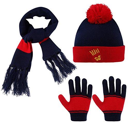 Vbiger Kids 3-Pieces Knit Hat + Scarf + Gloves Set Winter Wa