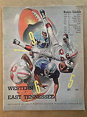 East Tennessee St Univ Western Kentucky Univ Col College Football Program 1965 Ex