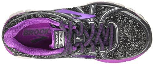 Charcoal 17 Brooks Flower Adrenaline Black Metallic Femme Course Purple Gris de GTS Chaussures Cactus qSBwCS