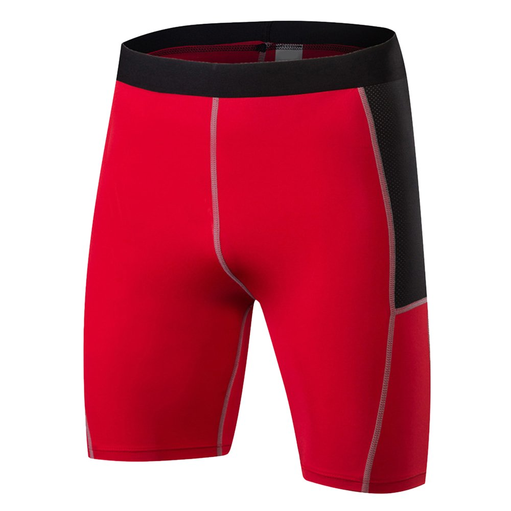 LITTHING Men's Compression Shorts Baselayer Cool Dry Sports Tights