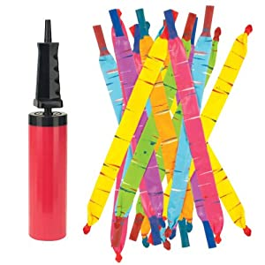 Amazon com rocket balloons with pump colors may vary toys amp games