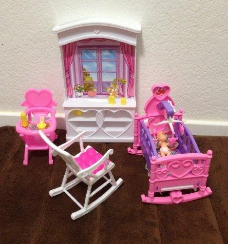 My Fancy Life Barbie Dollhouse Furniture New Baby Room Play Import