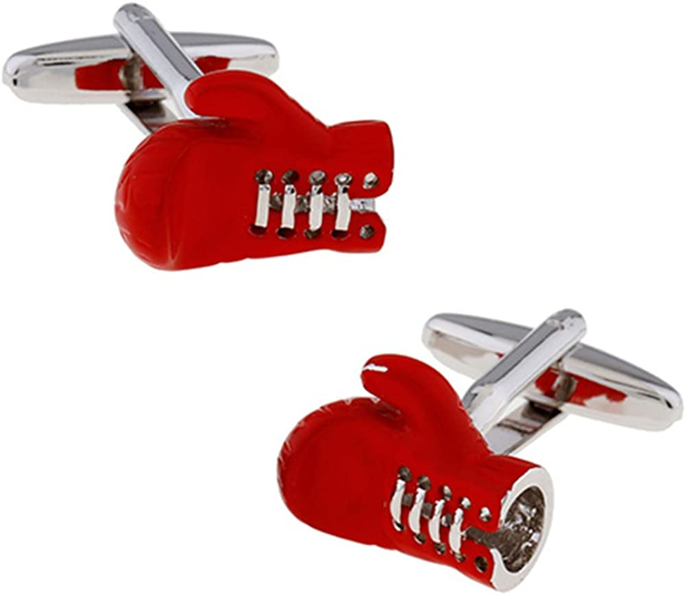 Boxing Gloves Squared Circle Ring Pair of Cufflinks for Mens Xmas Gift