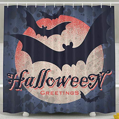 Silinana Vintage Grungy Halloween Design 6072 Inch Bathroom