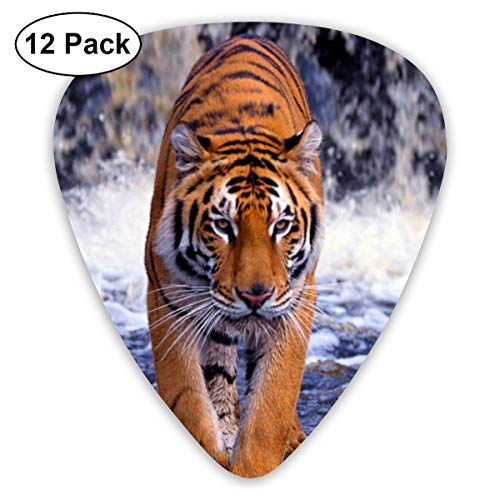 (Tiger Walk Predator Guitar Picks Universal 351-shaped 0.46mm/ 0.71mm/ 0.96mm ABS Celluloid Plectrum Custom for Electric Acoustic Guitars for Kids Teens Adults Bass Best Stockings Stuffer Gift -12pcs)