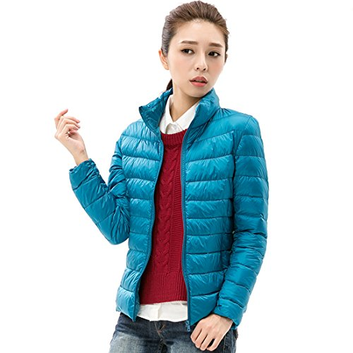 Respeedime Ladies Ultra Light Slim Down Jacket Autumn and Winter Down Coat For Women -