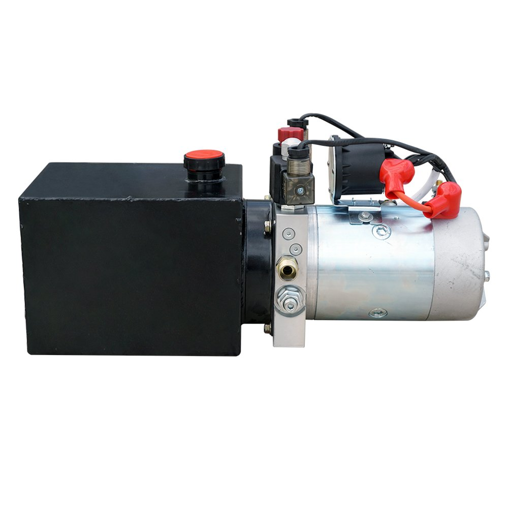 Fisters Trailer Pump 3 Quart 12v Electric Hydraulic My Te Winch Wiring Diagram Power Double Single Acting Up Supply Unit For Dump Truck3 Home