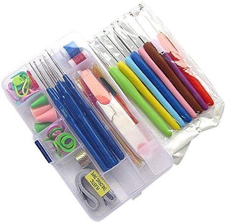 chenkou Craft 16 diferentes tamaños agujas de ganchillo para tejer Crochet Kit hileras Craft funda Set de agujas de ganchillo (: Amazon.es: Hogar
