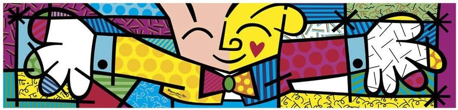 (60x18) Romero Britto The Hug Art Print Poster 513XciqxgmL