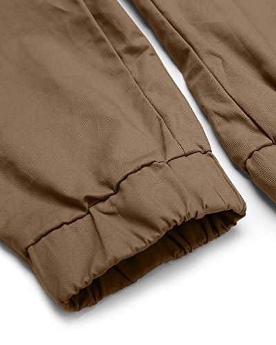 Chinois Casual Couleur Uni Noir Long Modchok Cordon Homme Pantalon Coton Jogger Khaki TU4nIXwq