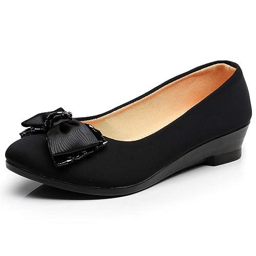 Mujeres Ballet Zapatos cuñas Zapatos para Oficina Trabajo Barco Zapatos Dulces Mocasines Mujeres Embarazadas cuñas Zapatos: Amazon.es: Zapatos y ...