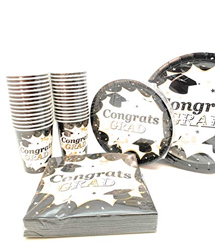 (120 pc Classic Graduation Value Pack Party Set Include 7