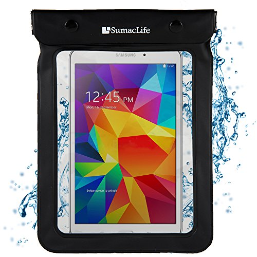 Waterproof Case for 6 - 8.4 Tablets / eReaders- Kindle Fire, iPad, Galaxy, Nexus, Venue, MeMO Pad, Iconia, IdeaTab, & Others