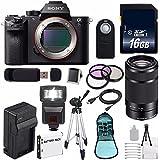 Sony Alpha a7S II a7S Mark II a7SII ILCE7SM2/B Mirrorless Digital Camera (International Model no Warranty) + Sony E 55-210mm f/4.5-6.3 OSS E-Mount Lens (Black) + 49mm Filter Kit 6AVE Bundle 111