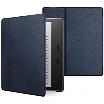 MoKo Case for All-New Kindle Oasis (9th Generation, 2017 Release) - Premium Ultra Lightweight Shell Cover with Auto Wake / Sleep for Amazon Kindle Oasis E-reader Case, INDIGO