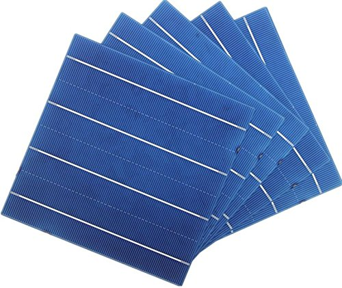 Vikocell 156MM Polycrystalline Solar Cells 6x6 for DIY Solar Panel (Pack of 10)
