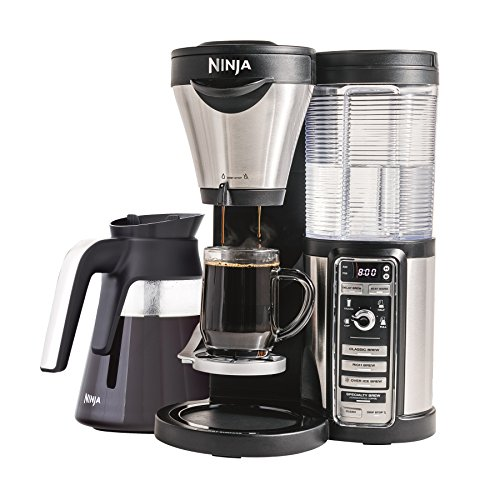 Ninja Coffee Maker for Hot/Iced/Frozen Coffee with 4 Brew Sizes, Programmable Auto-iQ, Milk Frother,...