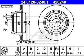 Bremsscheibe 2 Stück ATE 24.0120-0240.1