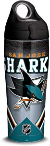 Tervis NHL San Jose Sharks Ice Stainless Steel Insulated Tumbler with Lid, 24 oz, Silver