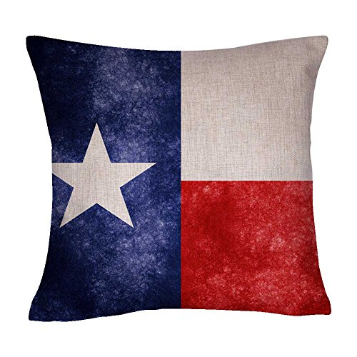 US State Flag Pillow Cover, State Flag Throw Pillow Covers (Texas) ()