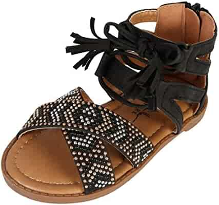 0fd594343f6 Nicole Miller New York Toddler Girls Studded Gladiator Sandal (Toddler)