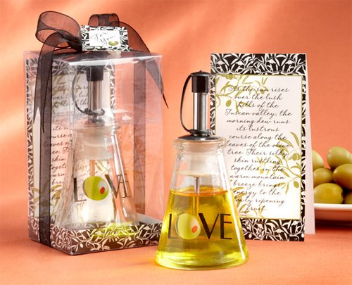 Price comparison product image Wedding Favors Olive You Glass LOVE Oil Bottle in Signature Tuscan Box