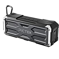 Portable Bluetooth Speakers, PICTEK 20W Wireless Speakers with 30-Hour Playtime, 33ft Bluetooth Range,IPX4 Waterproof & Built-in Mic, Dual-Driver Speakers with Enhanced Bass and ClearSound