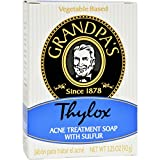 Grandpas Thylox Acne Treatment Bar Soap with Sulfur - 3.25 oz - Vegetable Based - Since 1878