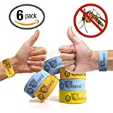 iGuard Band All Natural Mosquito Repellent Bracelets - Six (6) Pack - Deet Free, Mess, Spray or Plastic - Deters Bugs for Hours - Natural Oil Bug Repellent - Kid Safe Bracelet!
