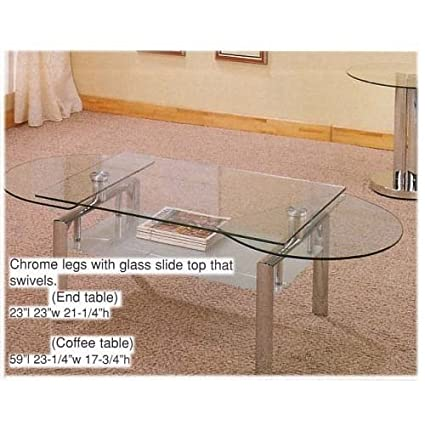 eca92d464b99c Image Unavailable. Image not available for. Color  BEAUTIFUL 3 PC COFFEE  TABLE SET WITH GLASS ...