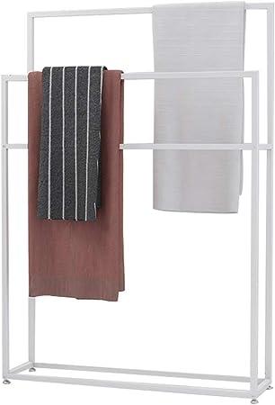 Y-only Toalleros de pie, toallero de pie, toallero pie, toallero Escalera, toallero Acero Inoxidable baño, toallero de pie baño, Orowhite-75x20x110: Amazon.es: Hogar