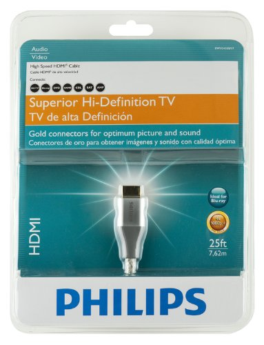 Amazon.com: Philips SWV3435S/17 High Speed HDMI Cable (25 feet) (Discontinued by Manufacturer): Home Audio & Theater
