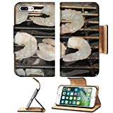 Liili Premium Apple iPhone 7 Plus Flip Pu Leather Wallet Case Grill with grilled shrimp at a barbecue iPhone7 Plus Image ID 22119846