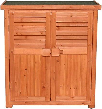Al aire libre de almacenamiento de madera Armario Balcón Caja de herramientas de jardín caja de almacenaje de las misceláneas Gabinete de almacenamiento Caja de almacenamiento al aire libre ideal: Amazon.es: Hogar