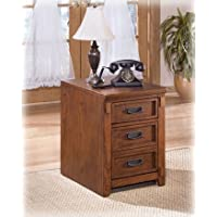 Home Office Small Brown Oak File Cabinet