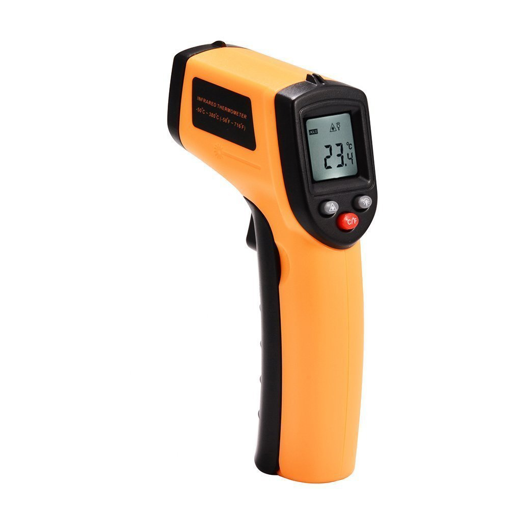 Non-Contact IR Thermometer, GM320 Laser Infrared Temperature Tester Gun Instant-read Range -50 to 380℃(-58 to 716℉) Emissivity 0.95(fixed) Powered By 2 AAA Batteries (Not Included) Not for Human or An