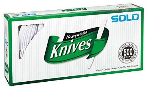 Solo Plastic Heavyweight Knife 500 Count by Knives