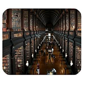 Retro Style Old Library Personalized Rectangle Mouse Pad