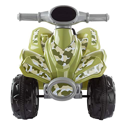 513XgQHZglL - Lil' RiderRide-On Toy ATV -Battery Operated Electric 4-Wheeler for Toddlers with Included Battery Charger and Push Button Start (Green Camo)