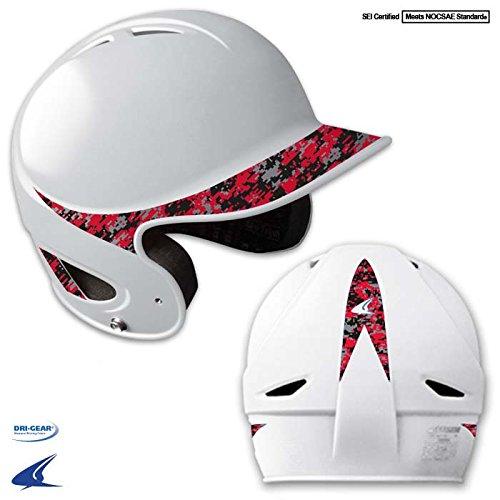 Champro Youth Performance Batting Helmet, White/Camo Scarlet, 6 1/2-7 1/4 6 1/2-7 1/4 Champro Sports H4