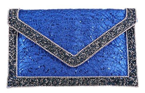 Cartera Sintético Girly De Handbags Mujer Azul Para Mano Material XwqqBF5