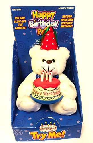 Happy Birthday Pals Plush Singing Birthday Bear with Record Your Own Message