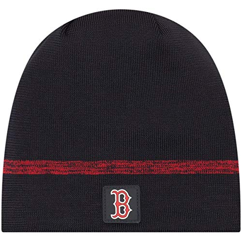 New Era Authentic Boston Red Sox Club House No-Cuff Sport Knit MLB Onfield Sideline Beanie Unisex Hat Navy, OSFM (Winter Hat Red Sox)